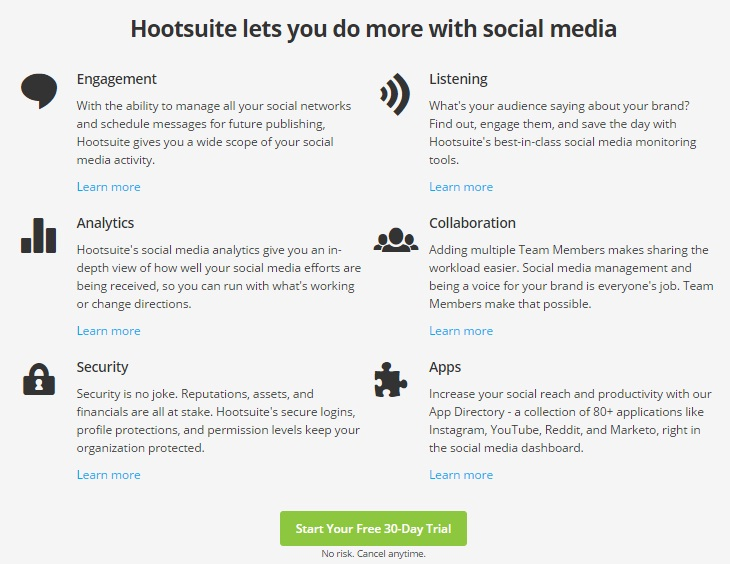 Hootsuite features - Top 5 Apps for Managing Social Media