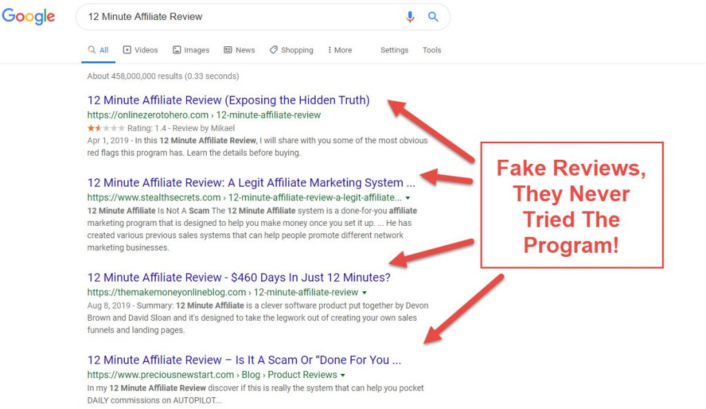 fake affiliate reviews - Three Branding Mistakes Failing Affiliate Marketing Businesses Make