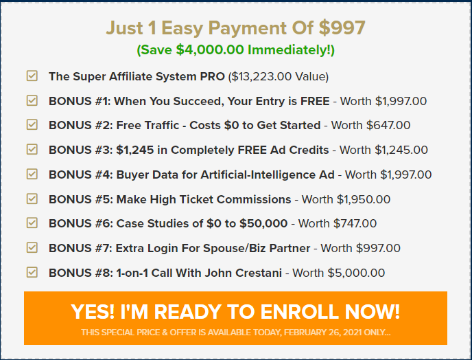 super affiliate system pro pricing - Super Affiliate System Review 2021: Is It Worth The Money?