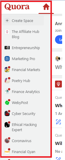 quora community space - 5 Effective Ways to Promote Business Blog (Tried Blog Promotion Tactics)