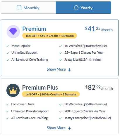 Wealthy Affiliate Premium and Premium Plus Yearly Package - Wealthy Affiliate Review 2021: Is It Worth Joining?